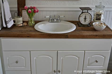 Vintage home love farmhouse bathroom