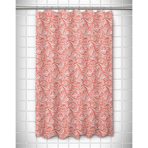 Coral Shower Curtains Island Dreamy Sea Coral Shower Curtain