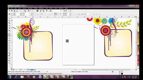 cara membuat desain kartu ucapan dengan coreldraw tutorial kartu ucapan corel draw x6 part2 youtube