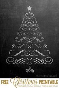 free printable chalkboard christmas tree yellow bliss road