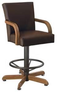 leather bar stools with arms lagrange 30 inch swivel bar stool with arms faux leather