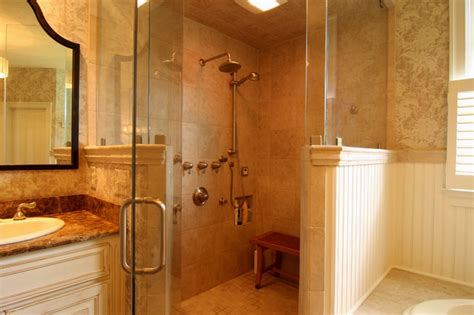 Bathroom Corner Shower Corner Shower With Hat Traditional Bathroom Richmond By Criner Remodeling