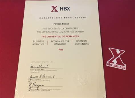 Harvard Mba Certificates by Harvard Business School Hbx Certificate