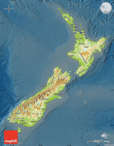 new zealand physical map physical map of new zealand darken