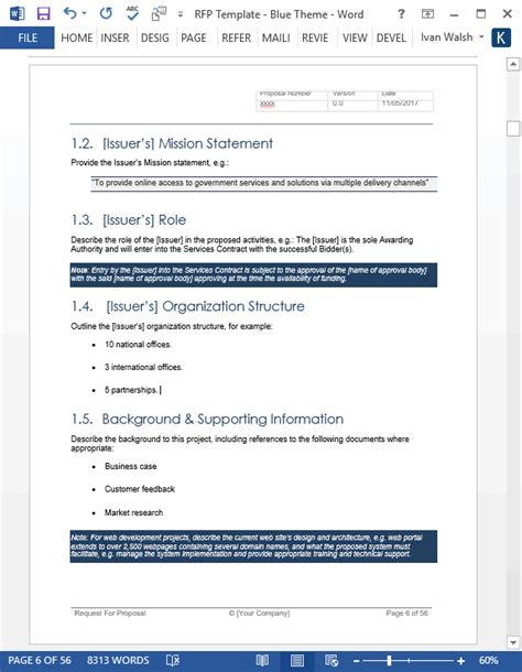 Crm Rfp Template by Rfp Templates Word Request For Rfp Template