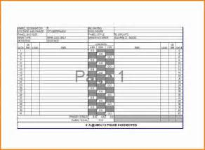 electrical panel schedule template 9 electrical panel schedule cashier resume