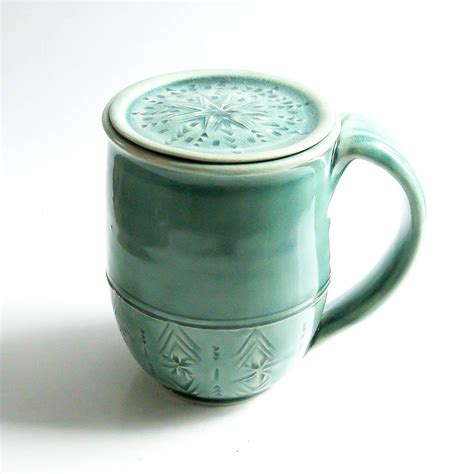 porcelain coffee mugs handmade coffee mug with lid personalized mug lidded pottery