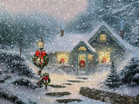 christmas wallpaper kinkade thomas kinkade christmas wallpapers free thomas kinkade