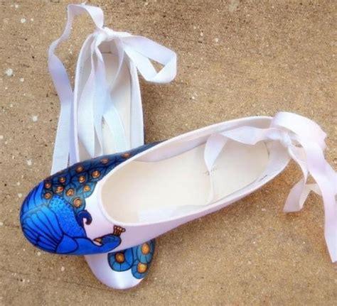 peacock shoes flats bridal ballerina flats painted peacocks peacock shoes