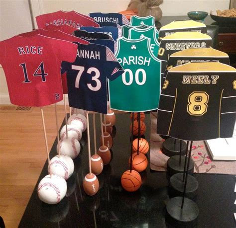 sports themed table decorations 25 unique sports centerpieces ideas on