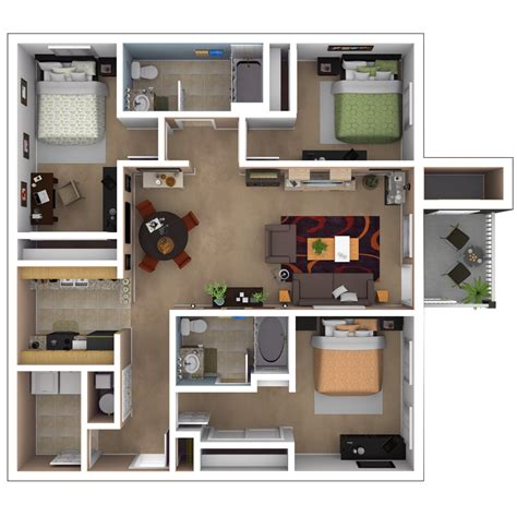 3 Bedroom Apartments In Baton Rouge | baton rouge apartments floor plans