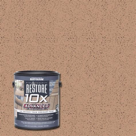 rust oleum restore  gal  advanced buckskin deck