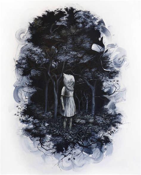 forest  darkness  art  candice tripp scene