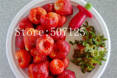 Promo Stem Gem Strawberry Huller Pemotong Strawberry Merah Murah strawberry berry stem gem kitchen tools strawberry