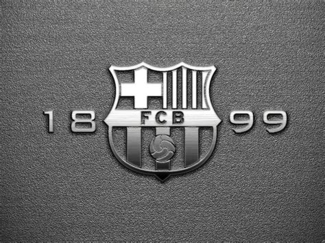 Kaos 3d Fcb White barcelona logo 2015 wallpapers wallpaper cave