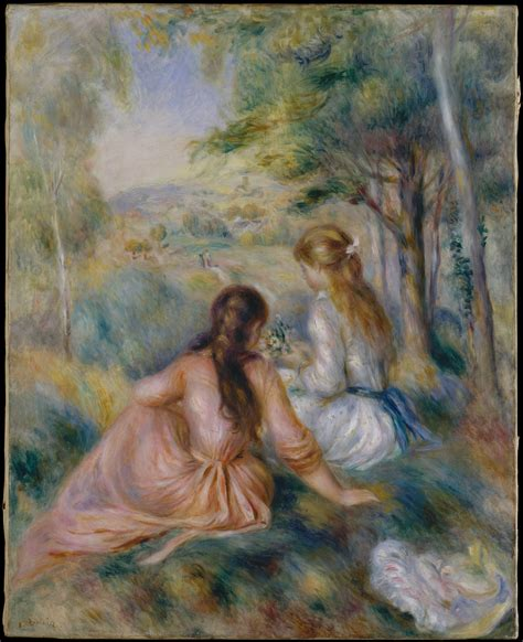 In The Meadow auguste renoir in the meadow the met
