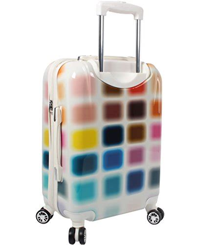 steve madden cubic luggage carry on 20 hardside suitcase with spinner wheels luxury sales and