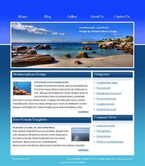 templates for website download 15 html web templates free download images html website