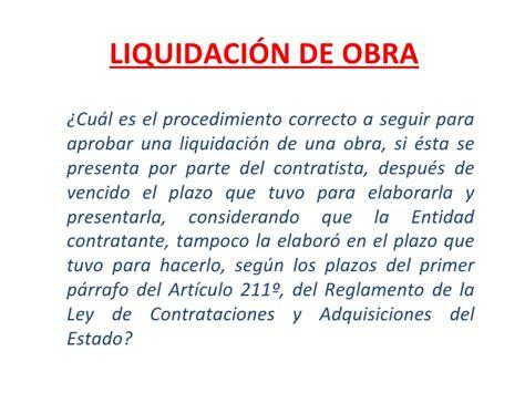 cuanto es el porcentaje de una liquidacion de trabajo liquidaci 243 n de obra2