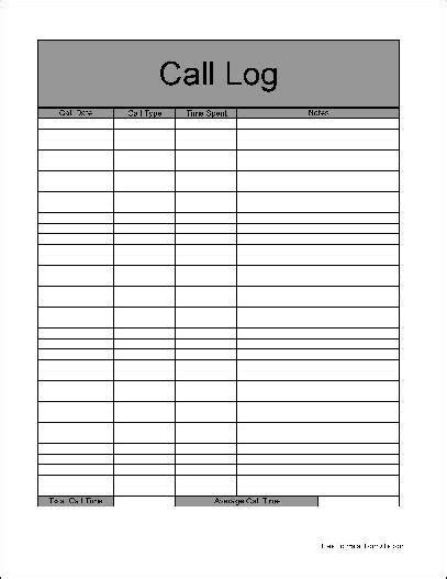 sales log sheet template 4 sales call log excel templates excel xlts
