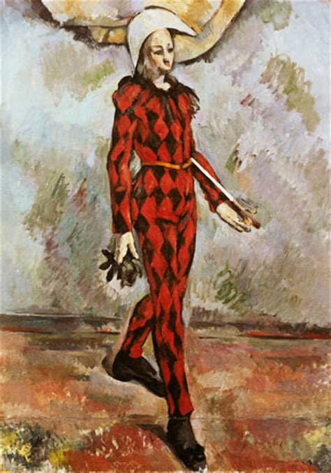 harlequin oil painting  paul cezanne  art print