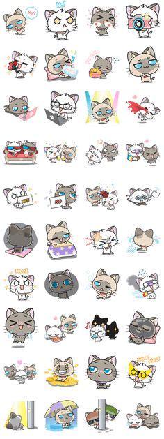 Cat Doodle Diary Deco Stickers Sticker Hiasan Buku bulldog stickers kawaii bulldogs and stickers