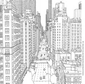 city coloring pages coloring books for grown ups 7 free pages to print