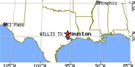 where is willis texas on a map willis texas tx population data races housing economy