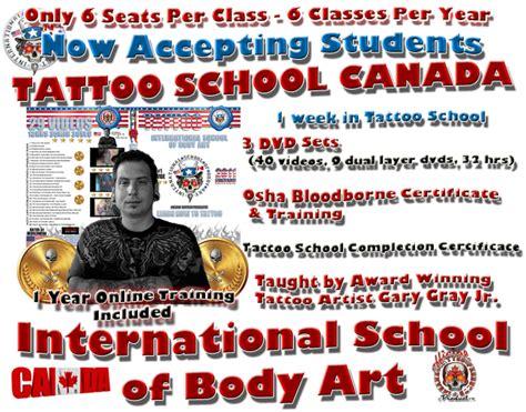 online tattoo school training certification tattoo school canada learn how to tattoo