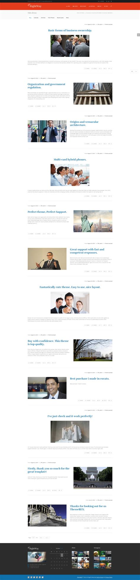 blogger themes with tabs right way political wordpress theme by themerex