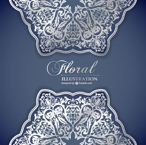 lace pattern ai free floral lace pattern invitation vector free download