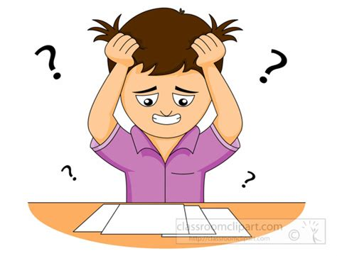 confused clipart lesson plans student confusion in the classroom lesson