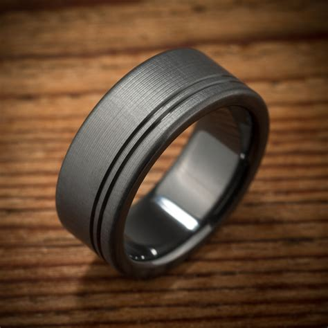 s wedding band comfort fit interior black zirconium