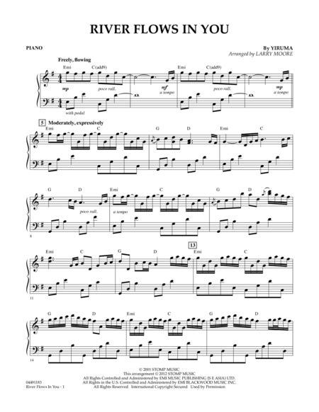 tutorial piano yiruma river flows in you download river flows in you piano sheet music by yiruma