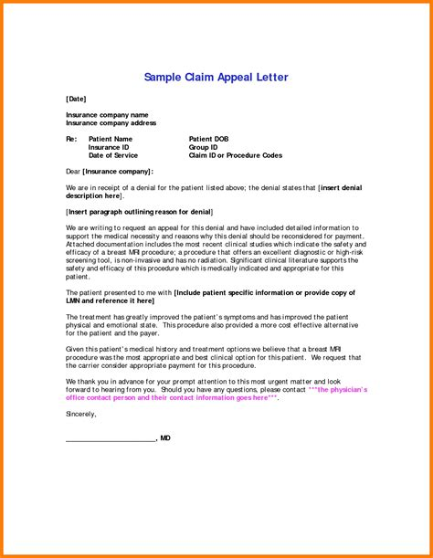 Va Insurance Letter inspirational insurance appeal letter sle cover letter exles