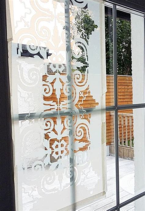 how to to use door how to transform a glass door using a stencil hometalk