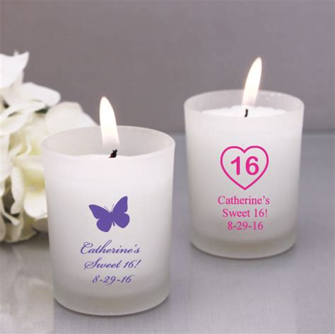 Sweet 16 Giveaways - personalized sweet 16 frosted candle holder sweet sixteen favors other occasions