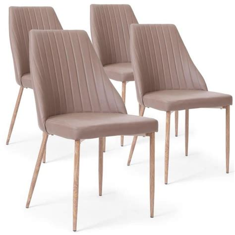 lot de 4 chaises lolie taupe achat vente chaise salle a