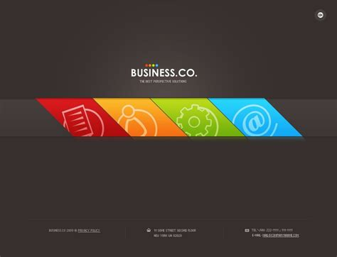 Business Flash Template 25057 Information Web Template