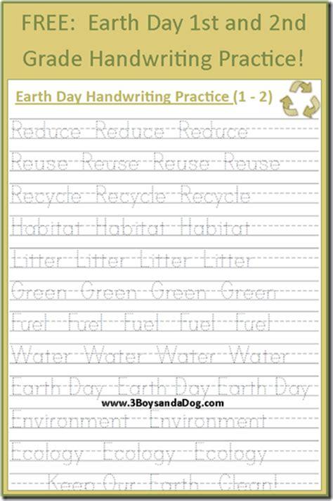 earth day freebie free printable worksheet handwriting