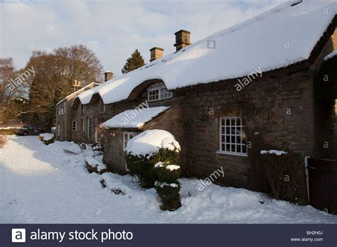 Chatsworth Cottages Peak District by Snow Covered Cottages In The Of Baslow Near