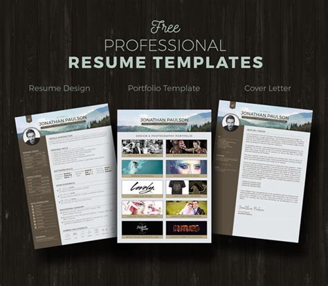 Resume Portfolio Template Free by 50 Beautiful Free Resume Cv Templates In Ai Indesign