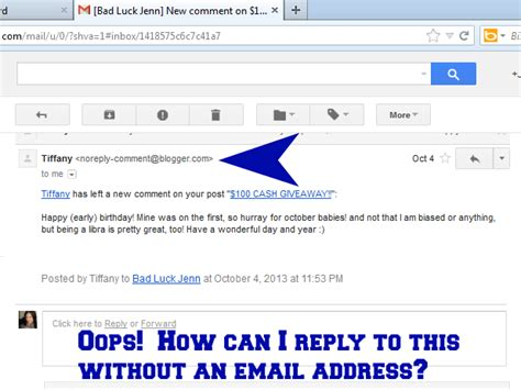 yahoo email reply to wrong address bad luck jenn are you a no reply blogger