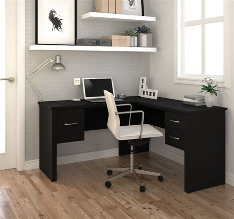 L Shaped Black Desk Best 25 Black Office Ideas On Pinterest Black Office Desk White Office And Modern Office Desk