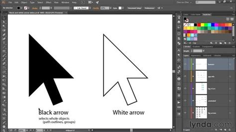 indesign creating arrows meet the black and white arrow tools