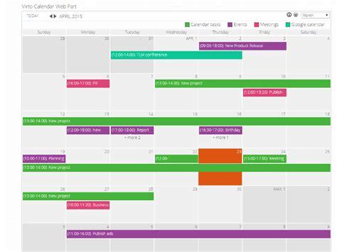 Add Sharepoint Calendar To Outlook Sharepoint Calendar Web Part Virtosoftware