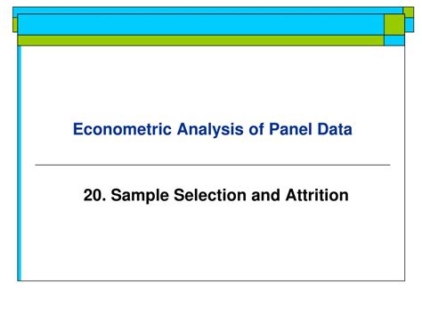 ppt econometric analysis of panel data powerpoint