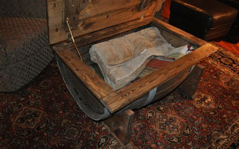 how to make a whiskey barrel table how to build a whiskey barrel coffee table