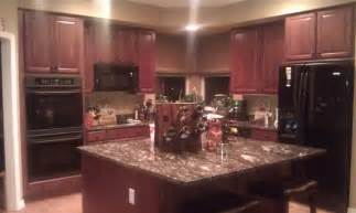 Dark Cherry Kitchen Cabinets Dark Cherry Kitchen Cabinets Wall Color
