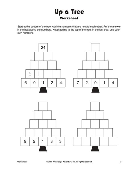 the christmas tree math problem addition worksheet for free kindergarten worksheets learning is with addition